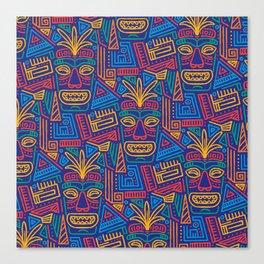 Tiki pattern Canvas Print
