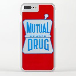 Mutual Drug Sign Clear iPhone Case