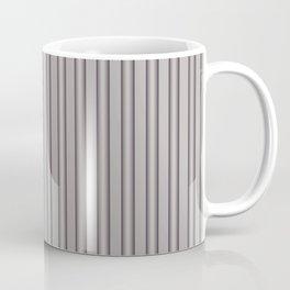 Grey Metal Bars Vertical Lined Stripes Coffee Mug