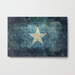 Flag of Somalia - Grungy version Metal Print