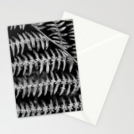 Black and White Fern Pattern Stationery Cards