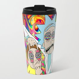 rick an morty rainbow Travel Mug