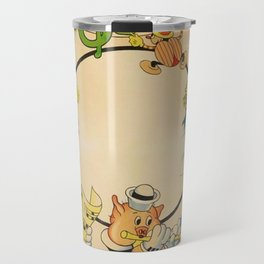 1933 Vintage Three Little Pigs 'Silly Symphony' Classic Movie Poster Travel Mug