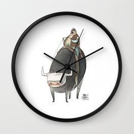 Numero 5 -Cosi che cavalcano Cose - Things that ride Things- NUOVA SERIE - NEW SERIES Wall Clock