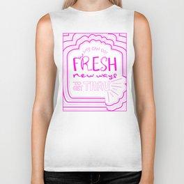 Fresh New Ways – Wow Pink Biker Tank