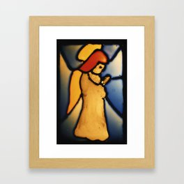 Stained Glass Angel Framed Art Print