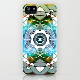 Atmospheric Mandala 0354 iPhone Case