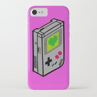 gameboy iPhone & iPod Cases featuring Gameboy Love by Artistic Dyslexia
