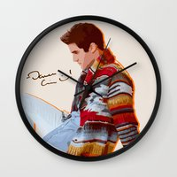 darren criss Wall Clocks featuring Darren for Hero by byebyesally