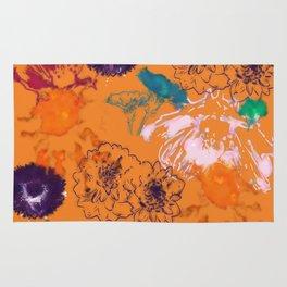 fall floral orange Rug