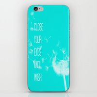 coconut wishes iPhone & iPod Skins featuring Wishes by Veronica Ventress