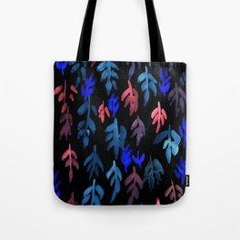 180726 Abstract Leaves Botanical Dark Mode 21 |Botanical Illustrations Tote Bag