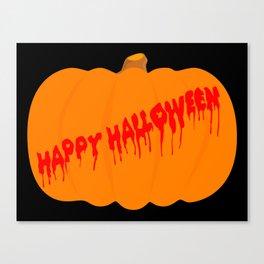 Totaly Evil Halloween Pumpkin Canvas Print