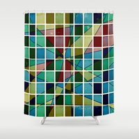 mosaic Shower Curtains featuring Mosaic by Tammy Kushnir