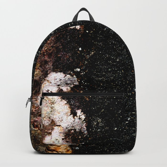 Abstract wall grey painting Backpack