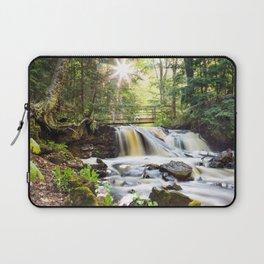 Upper Chapel Falls at Pictured Rocks National Lakeshore - Michigan Laptop Sleeve