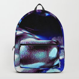 traveling through space and time abstract oil paint Backpack