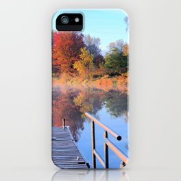 Autumn Fishing Dock Panorama iPhone Case