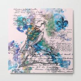 L'Oiseau Chanteur Metal Print