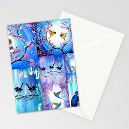 Purples and Blues Stationery Cards