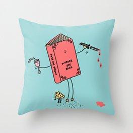 Murder She Read Throw Pillow
