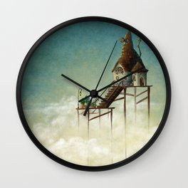 Far above the clouds Wall Clock