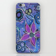 Purple Flowers Background iPhone & iPod Skin