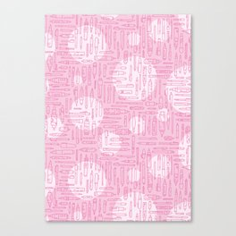 Pink Pens Canvas Print