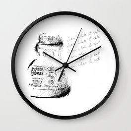 I Am What I Eat - Coffee Wall Clock