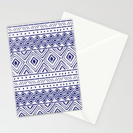 African Mud Cloth // Blue Stationery Cards