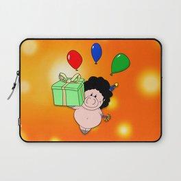 Birthday Pig Laptop Sleeve