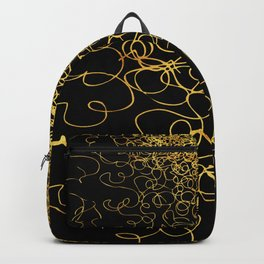 swirly gold gradient Backpack