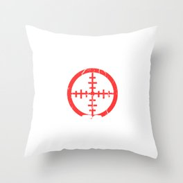 """A Nice Shooting Tee For Hunters Saying """"The Hunt Is Calling"""" T-shirt Design Hunting Rifle Throw Pillow"""
