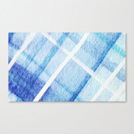 Watercolor Blues Canvas Print