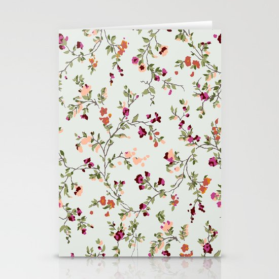 floral vines - neutrals Stationery Cards
