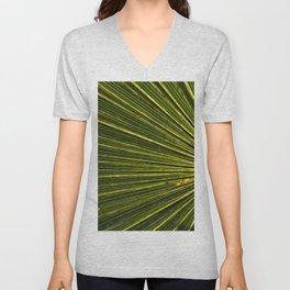 Green Palm Poetry Unisex V-Neck