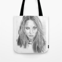 katniss Tote Bags featuring Katniss by S'ANNie
