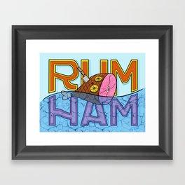 Rum Ham Framed Art Print