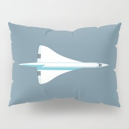 Concorde Supersonic Jet Airliner - Slate Pillow Sham