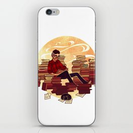 Book Lover Boy iPhone Skin