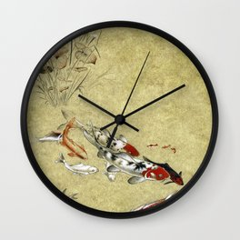 Koi study Wall Clock