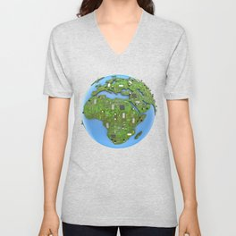 Data Earth Unisex V-Neck