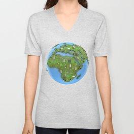 Data Earth Unisex V-Neck