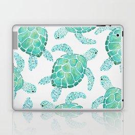 Sea Turtle Pattern - Blue Laptop & iPad Skin