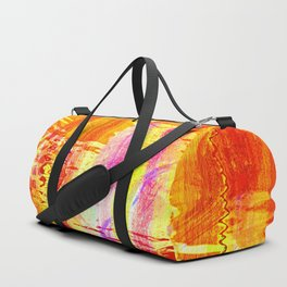 Burnt orange reflection on Lagoon Duffle Bag
