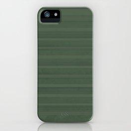 relaxing green stripe iPhone Case