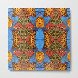 Sacred butterfly geometry II Metal Print