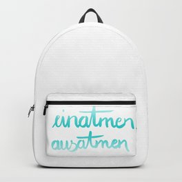 einatmen ausatmen Backpack
