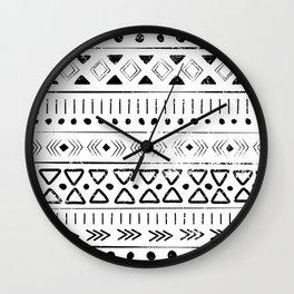 Boho Tribal Pattern Wall Clock