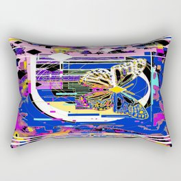 Song of the White Butterfly Abstract Rectangular Pillow